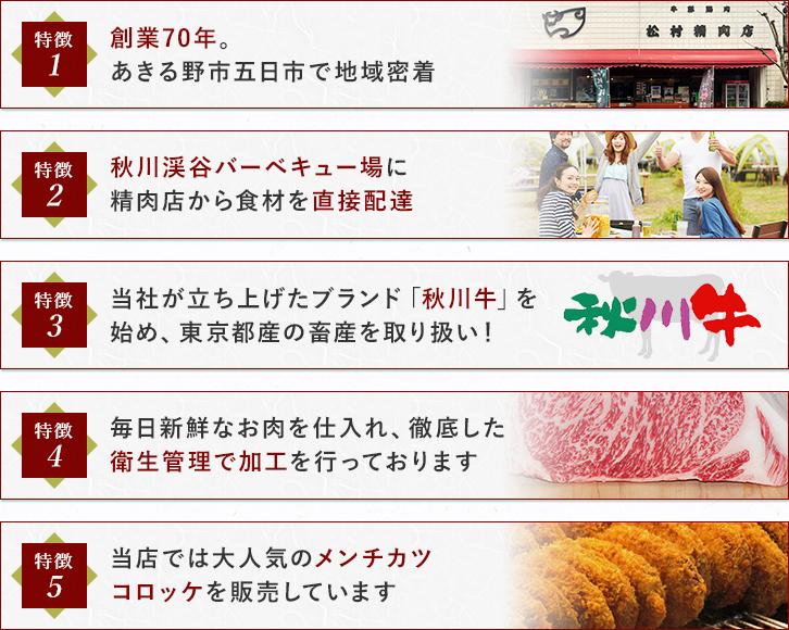松村精肉店の特徴